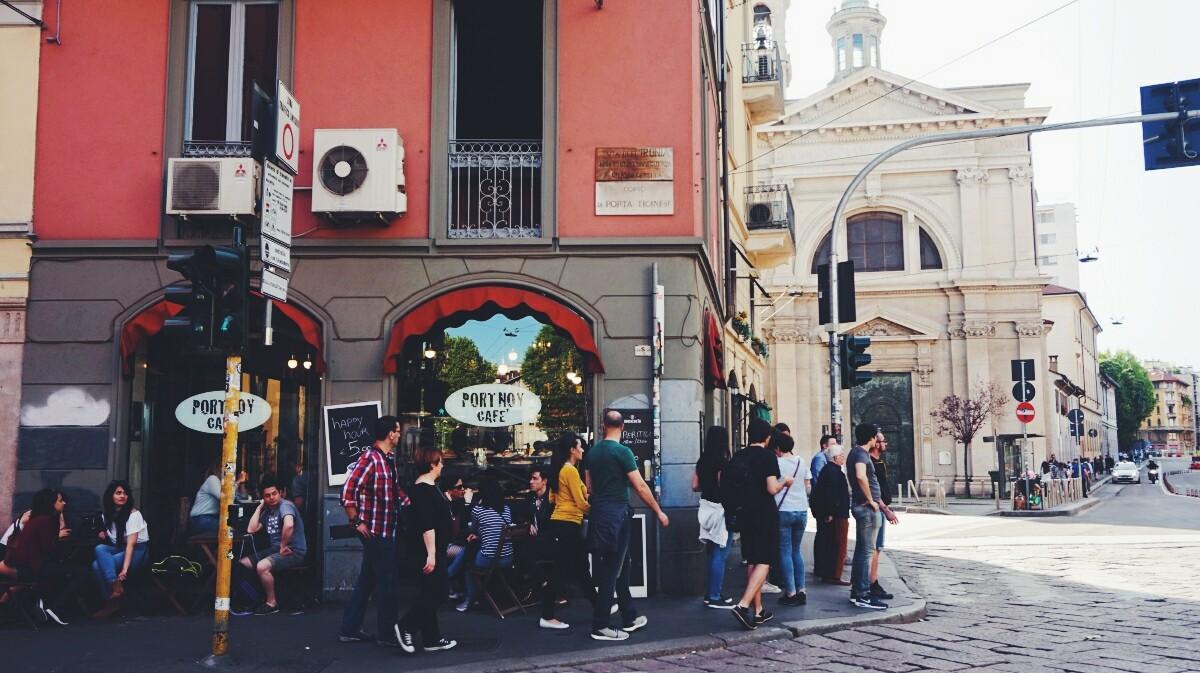 uliczka w Mediolanie