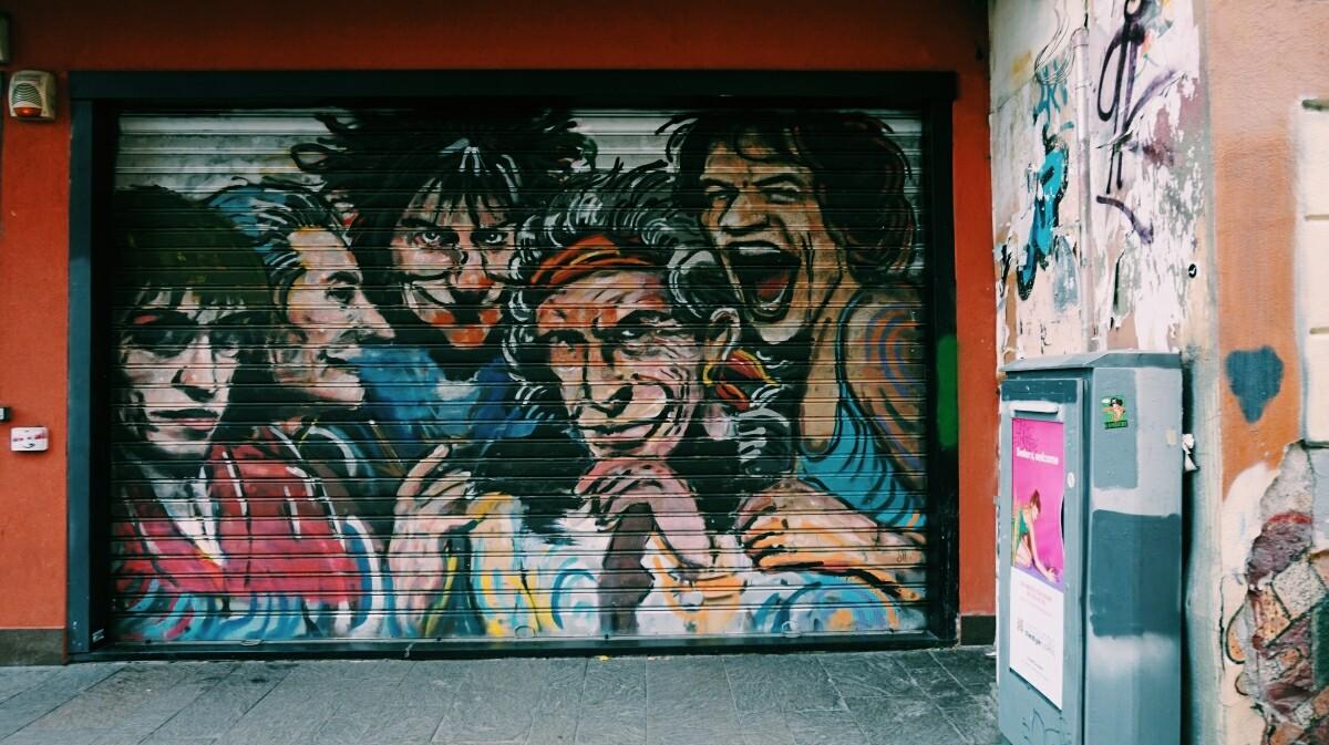Rolling Stones - street art w Mediolanie