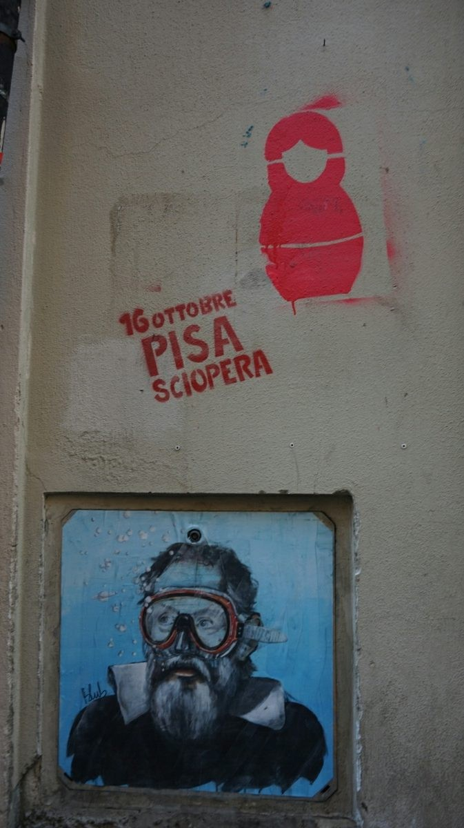 Blub street-art in Pisa
