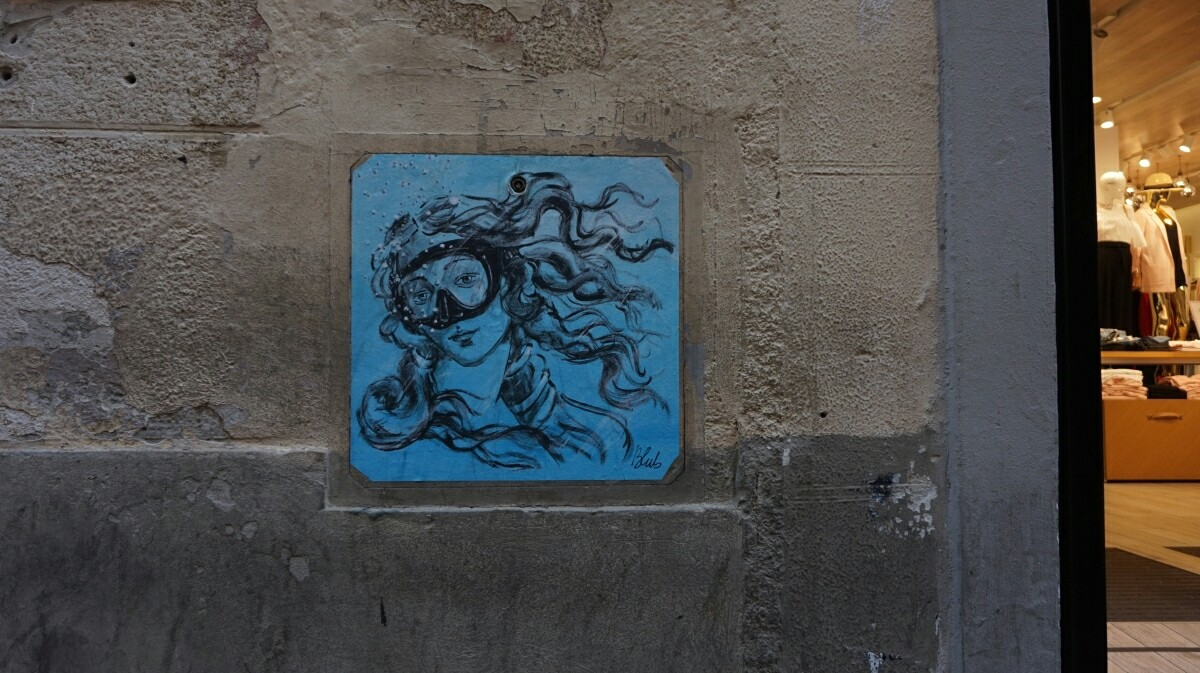 Street-art w Pizie, Blub