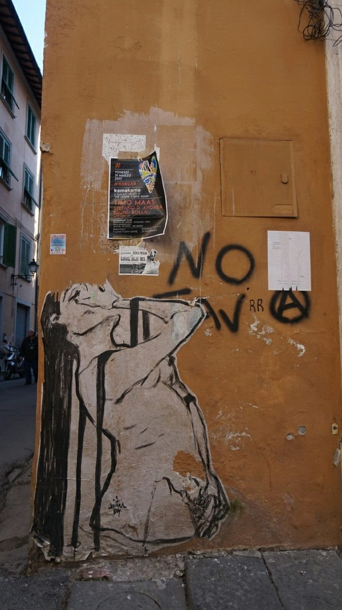 Street-art in Pisa spring