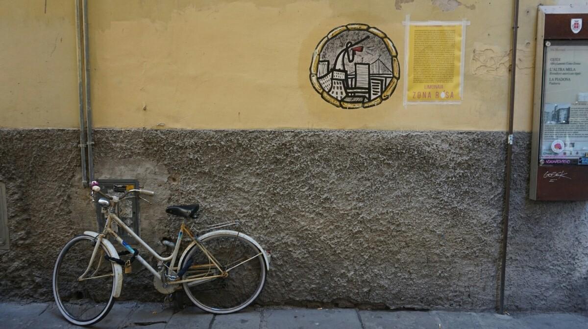 Street in Pisa in Italy