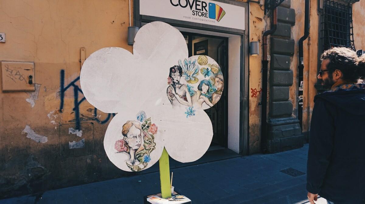 Street-art, dzień ziemi w Pizie