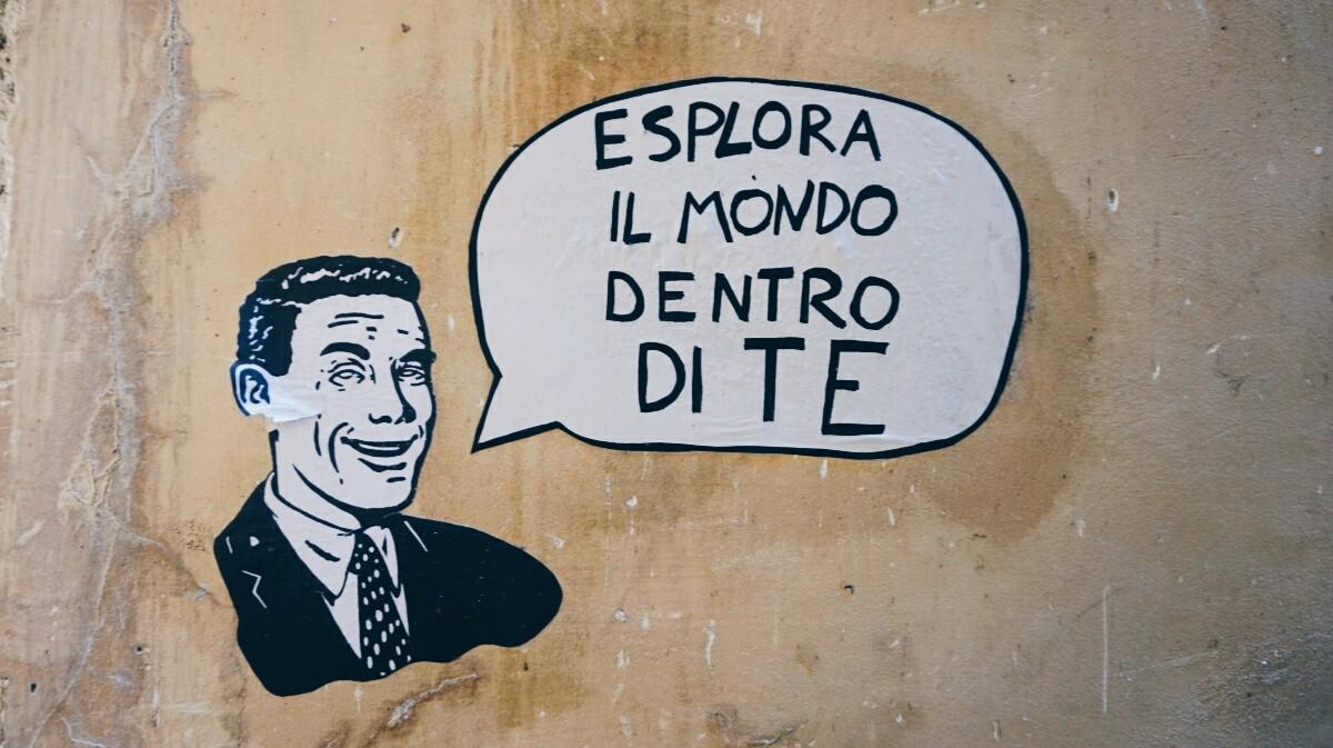 Zdjęcie street-artu w Pizie