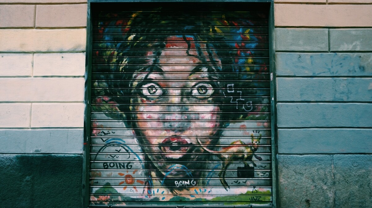 Beautiful street-art in Milan