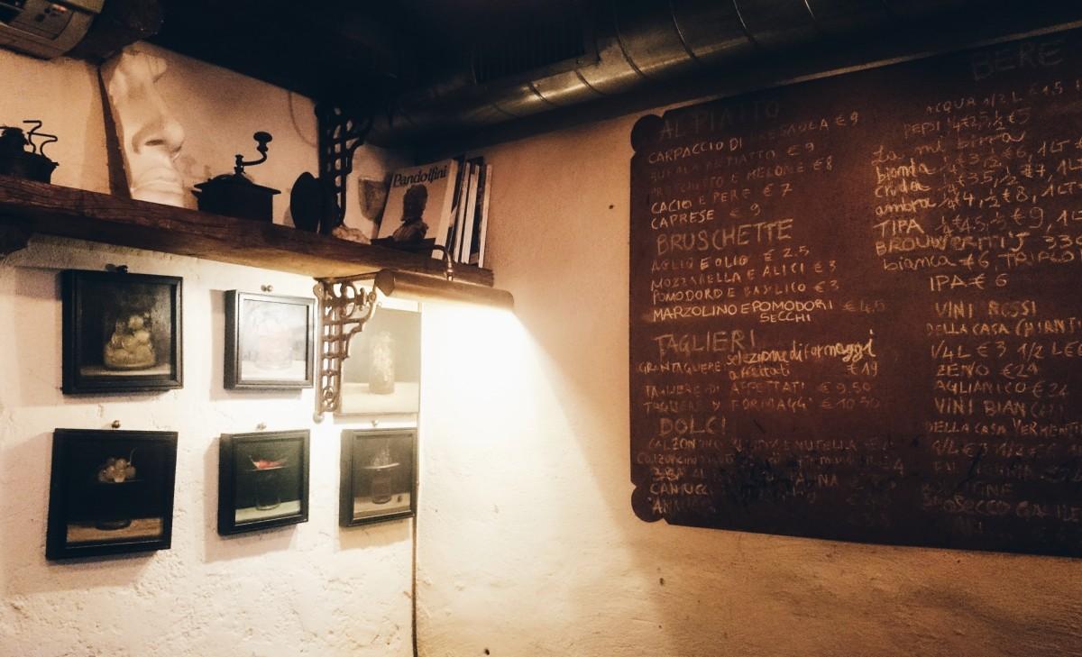 Wnętrze restauracji Da Gherardo we Florencji