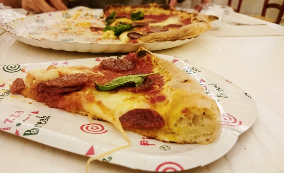 Pizza in Misterpizza a Firenzze