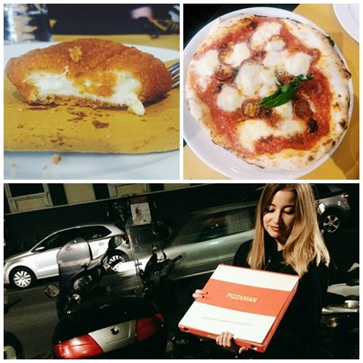 Pizza z Pizzaman we Florencji