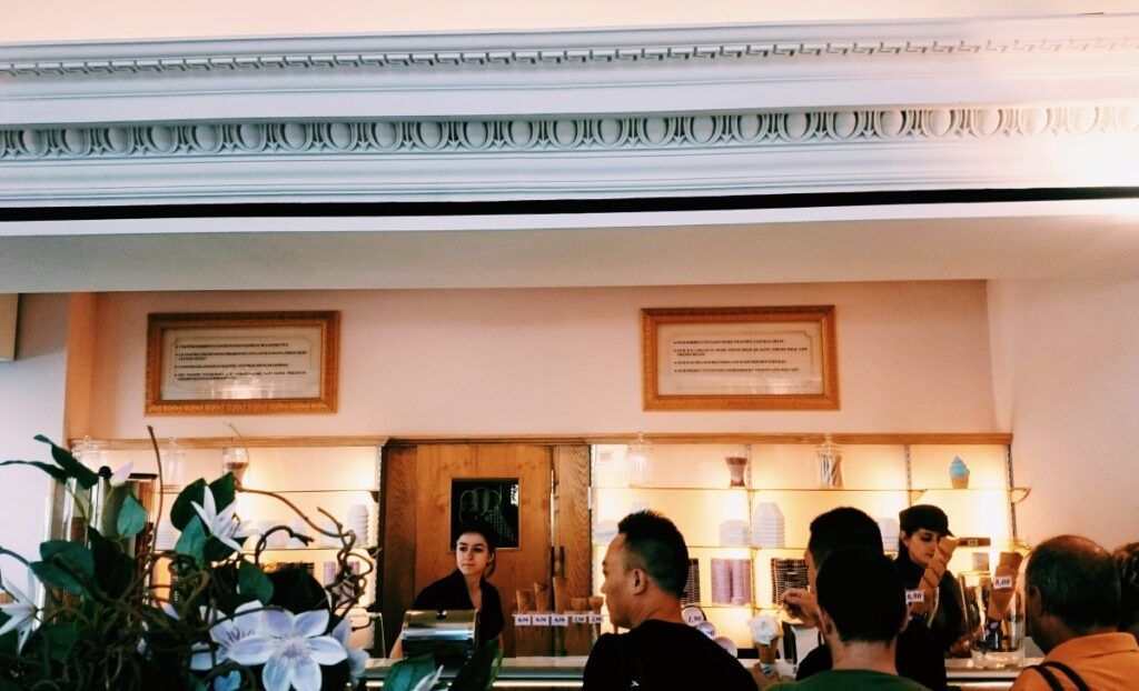 Lody w Gelateria Santa Trinita we Florencji