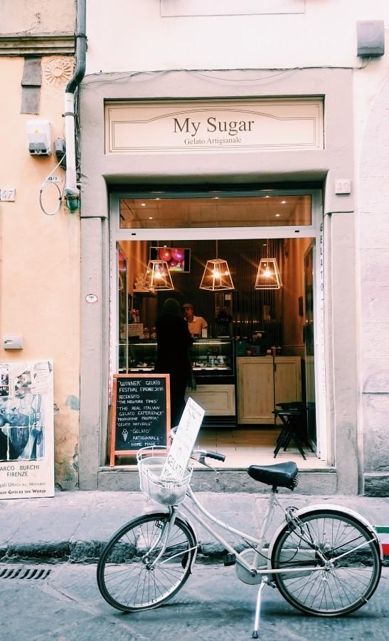 Zdjęcie sprzed lodziarni My Sugar we Florencji