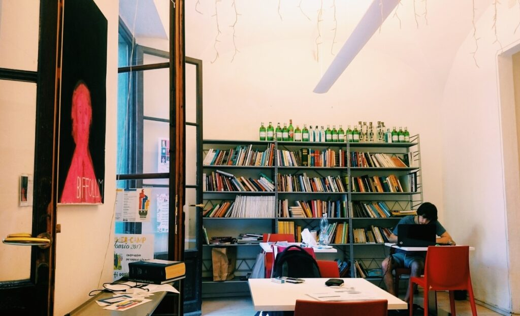 The interior of Libri Liberi in Florence