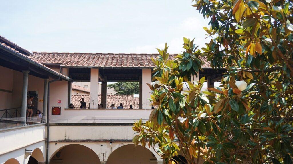 Piękny taras w Caffeteria delle Oblate we Florencji