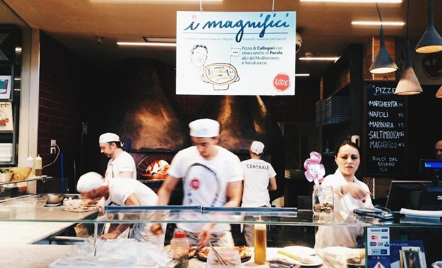 Pizza w Mercato di San Lorenzo
