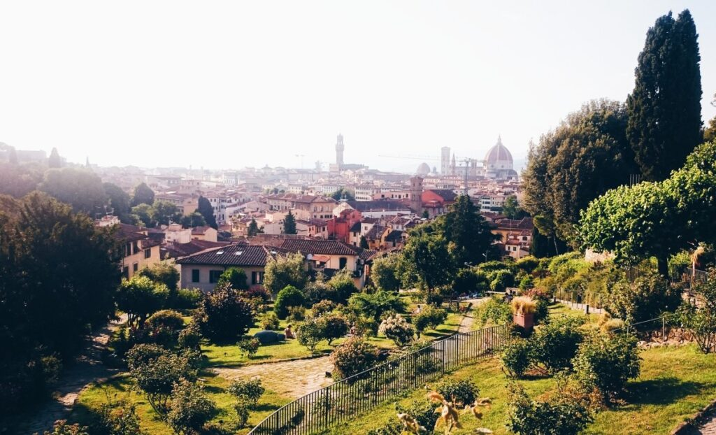 The view of Florence from Giardino delle Rose