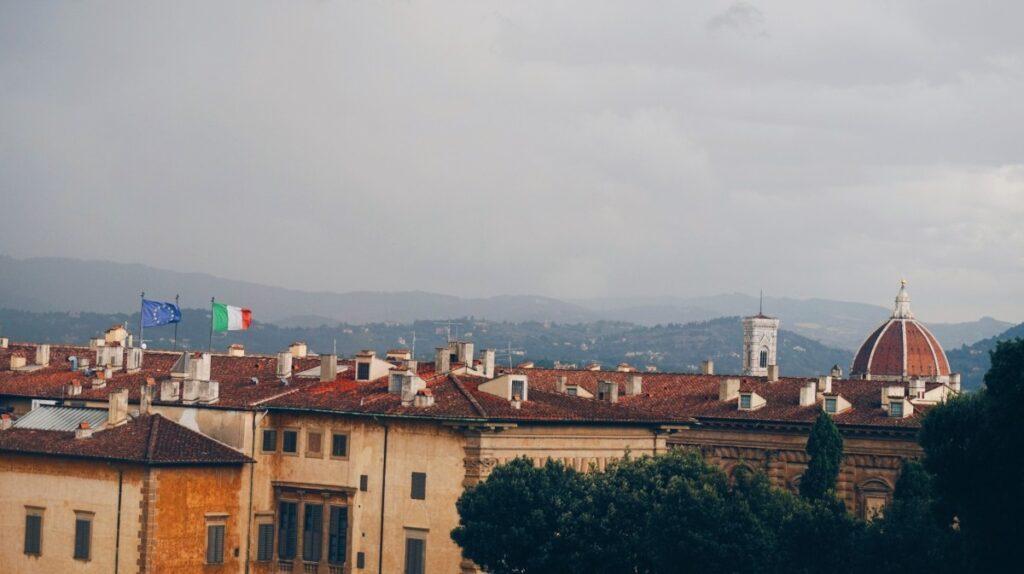 Widok na Florencję z Ogrodu Boboli