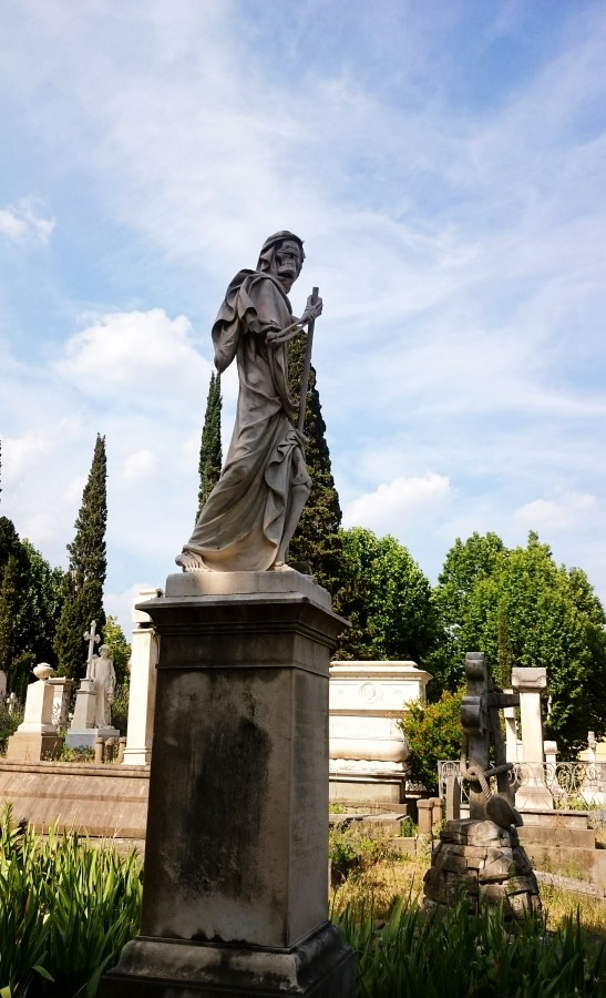 Sculpture in the English Cemetery in Florence