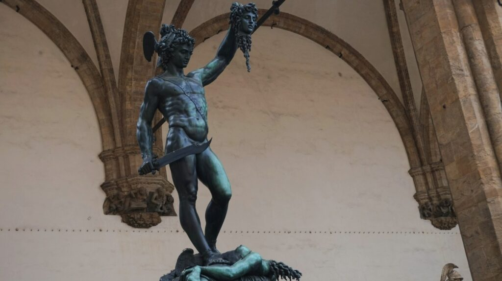 The sculpture of Perseus with the Head of Medusa