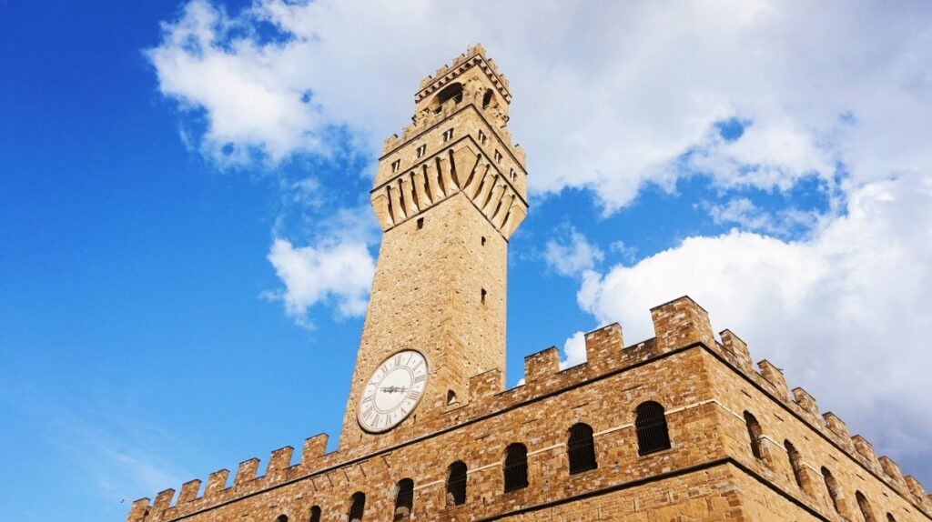 The photo of Palazzo Vecchio in Florence