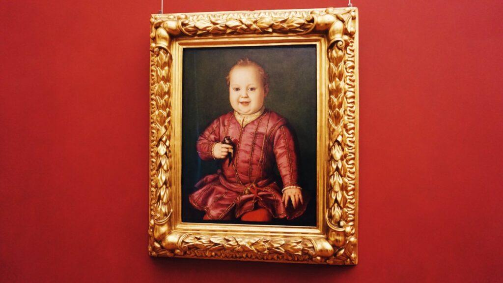Portret dziecka w Galerii Uffizi we Florencji