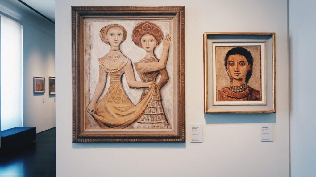 Obrazy w Muzeum Novecento we Florencji