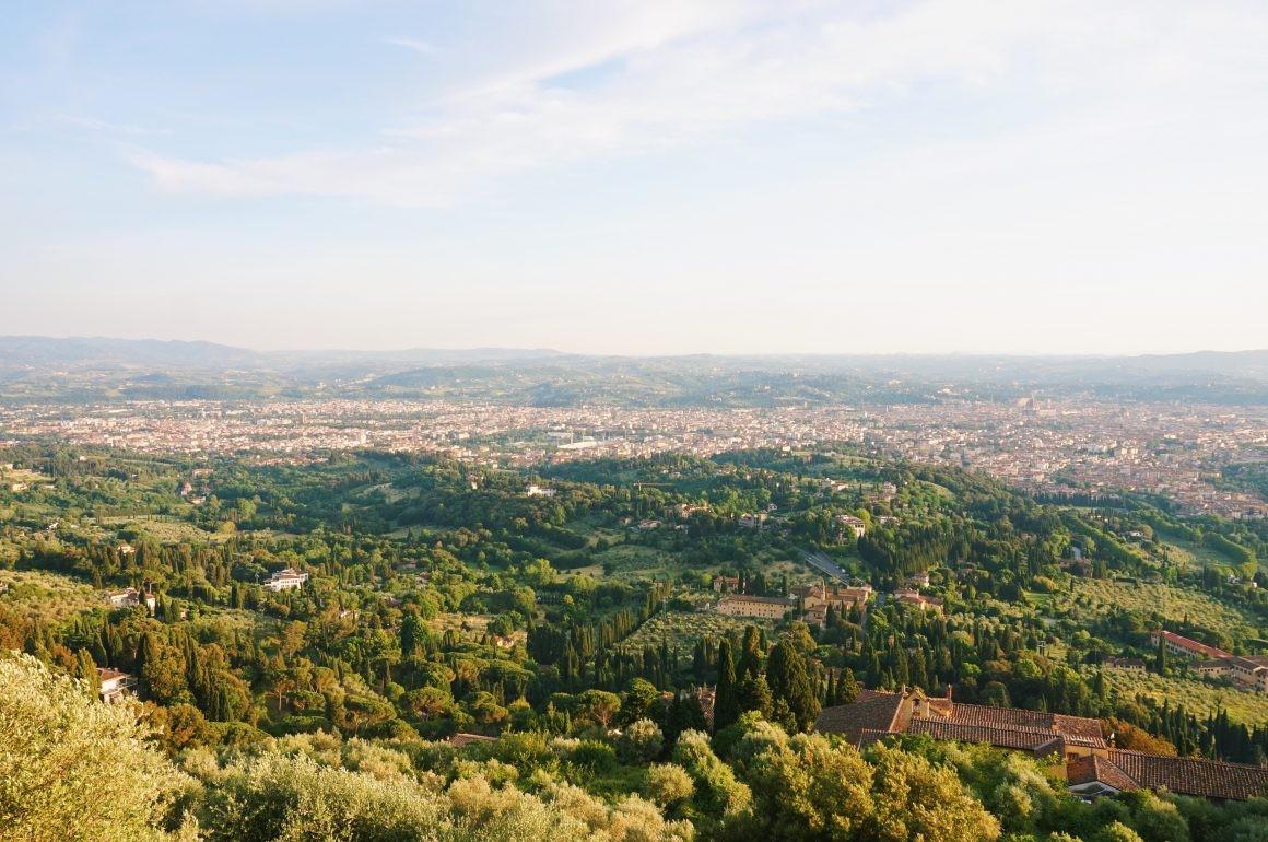 Widok na Florencję z miasteczka Fiesole