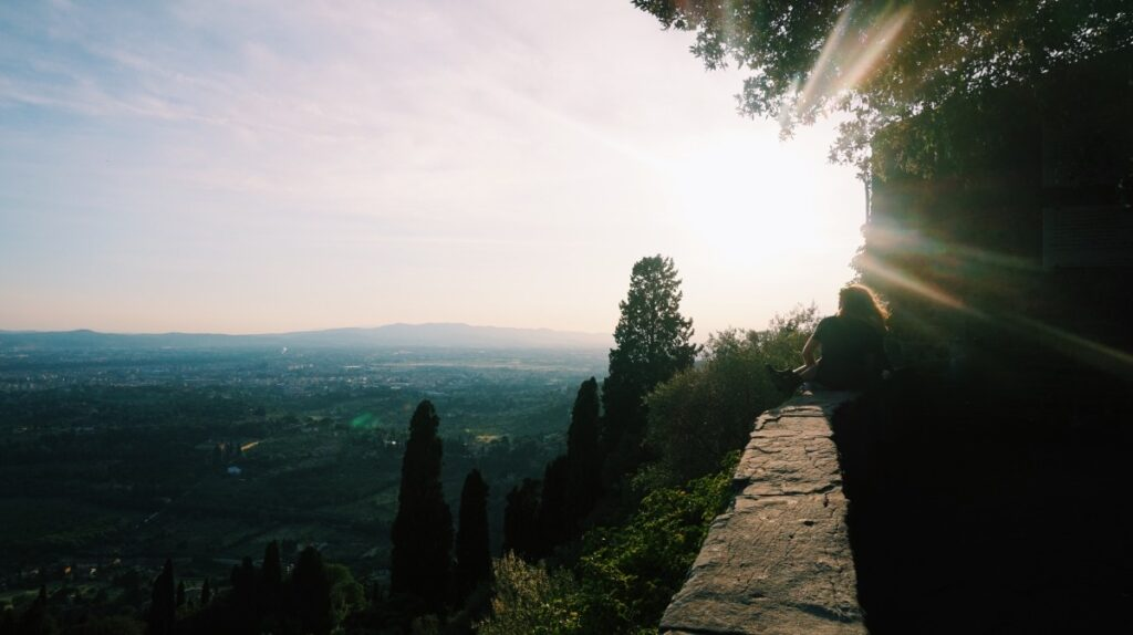 Sun shining in Fiesole