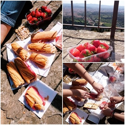 A small picnic in Fiesole