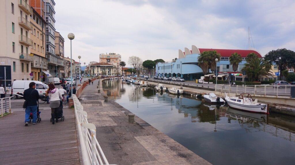 Port area in Viareggio