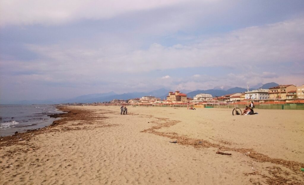 The beach in Viareggio