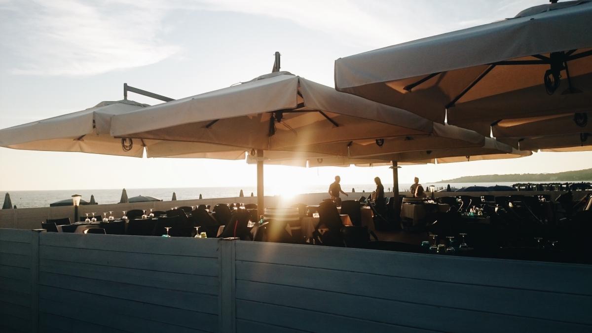 Zachód słońca w Rosignano