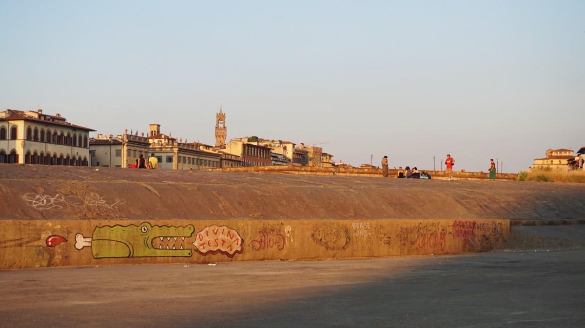 Nad rzeką Arno, we Florencji