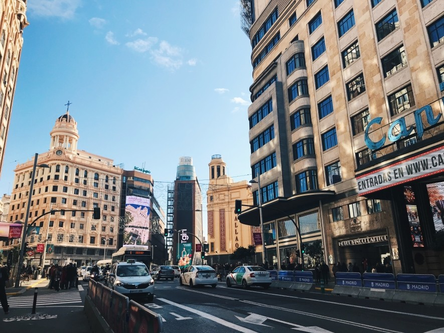 International internship in Madrid, Gran Via