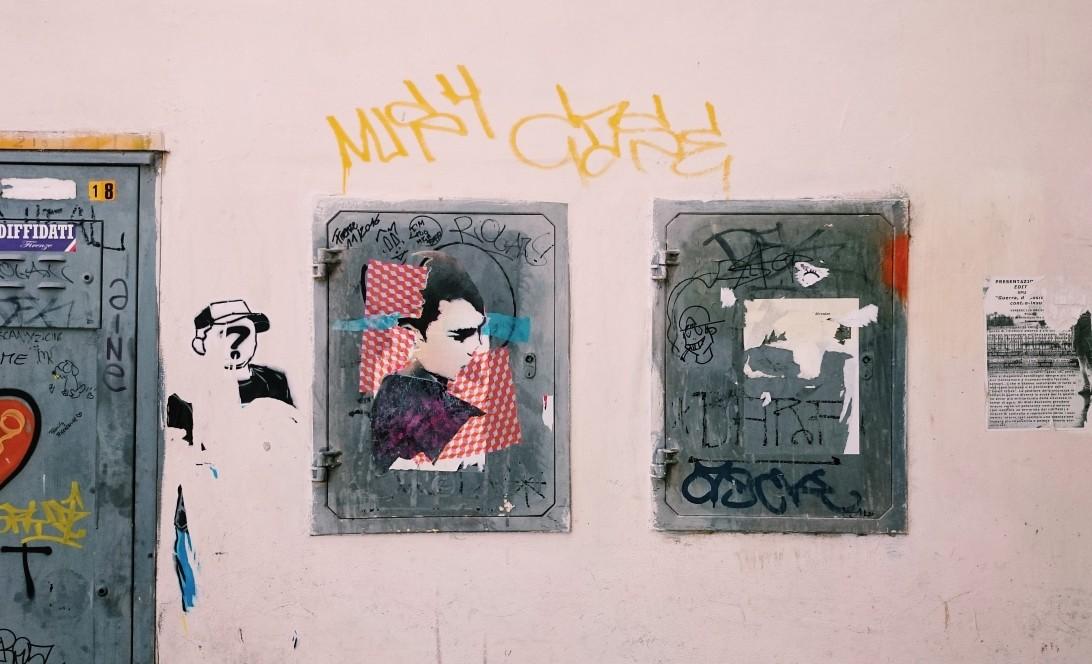 Oryginalny street-art we Florencji