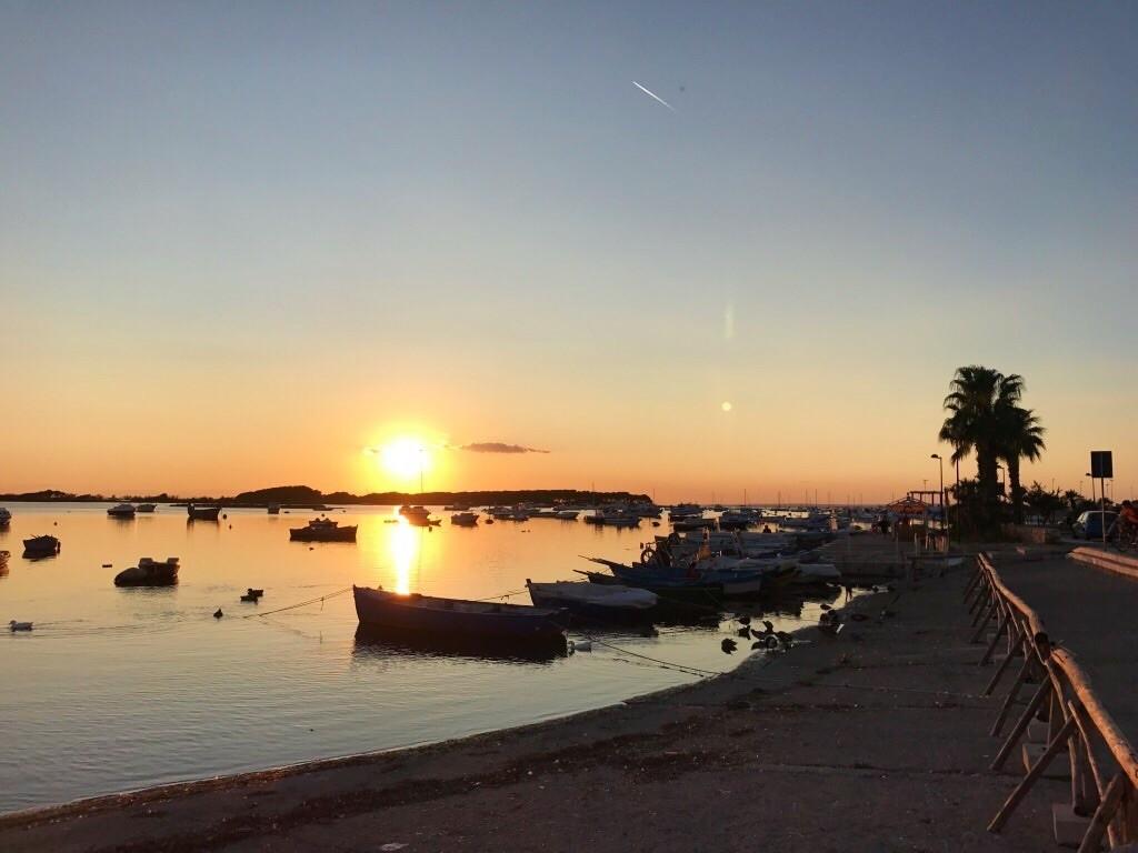 Zachód słońca w Porto Cesareo