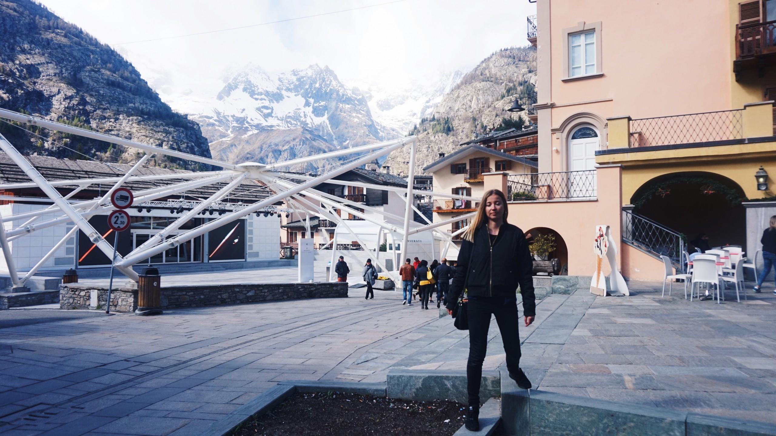 Mont Blanc w Courmayeur