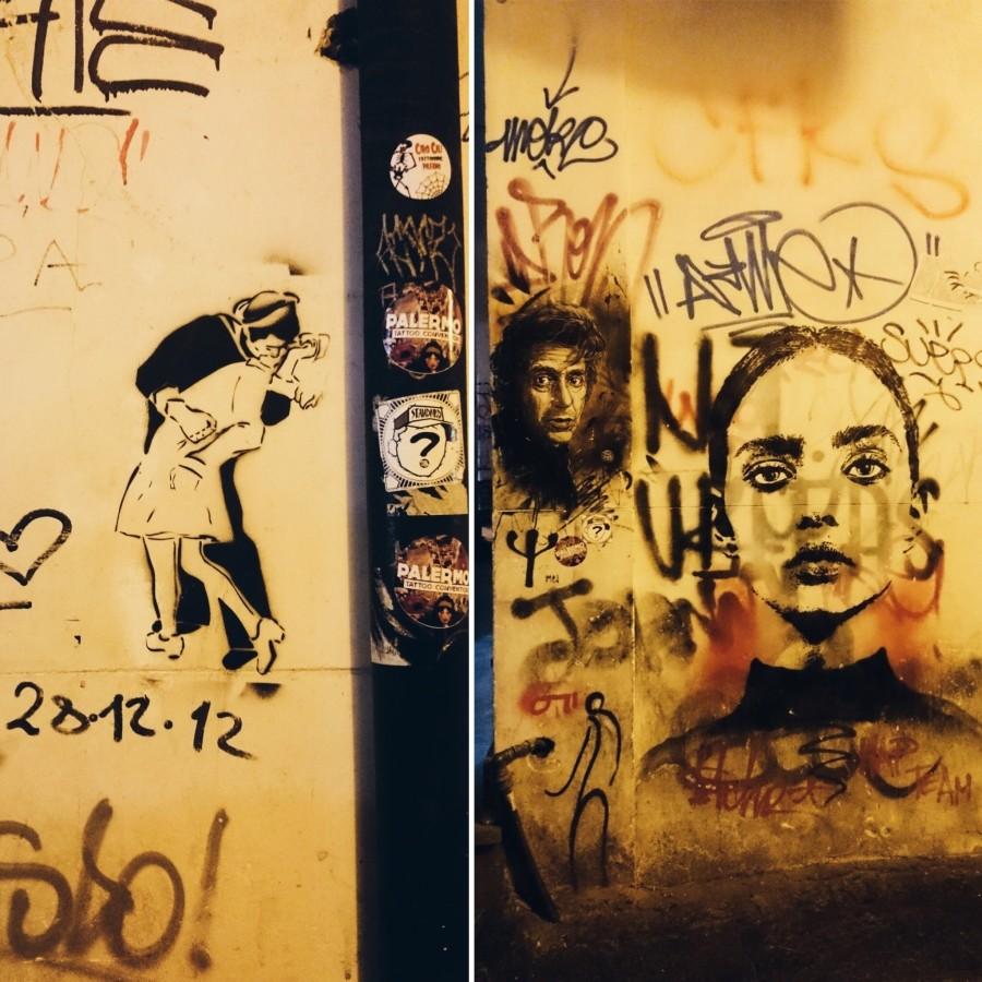 Street-art w dzielnicy Vucciria w Palermo