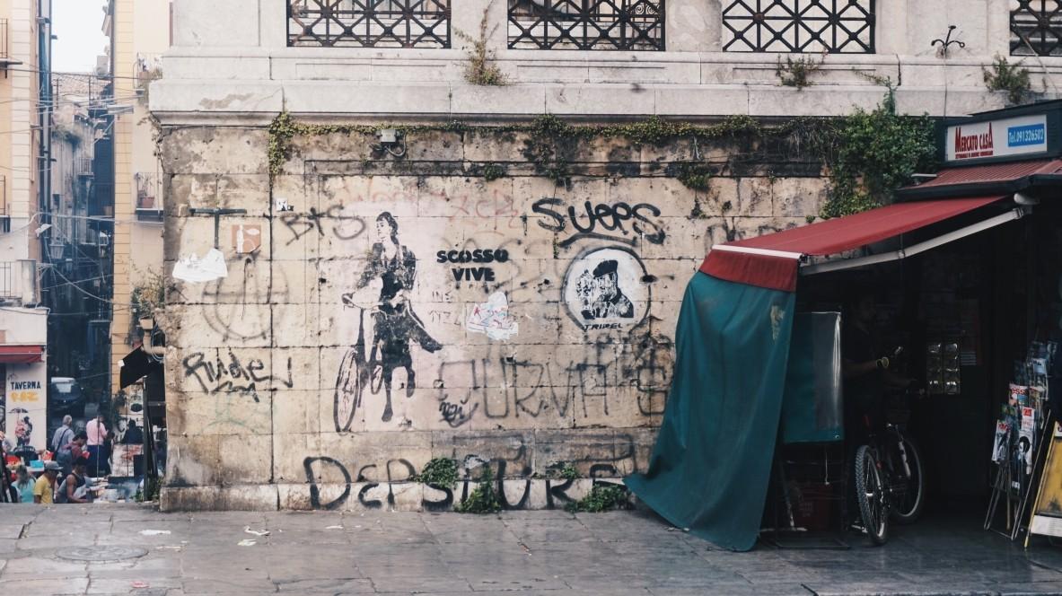 Street-art in Vucciria in Palermo