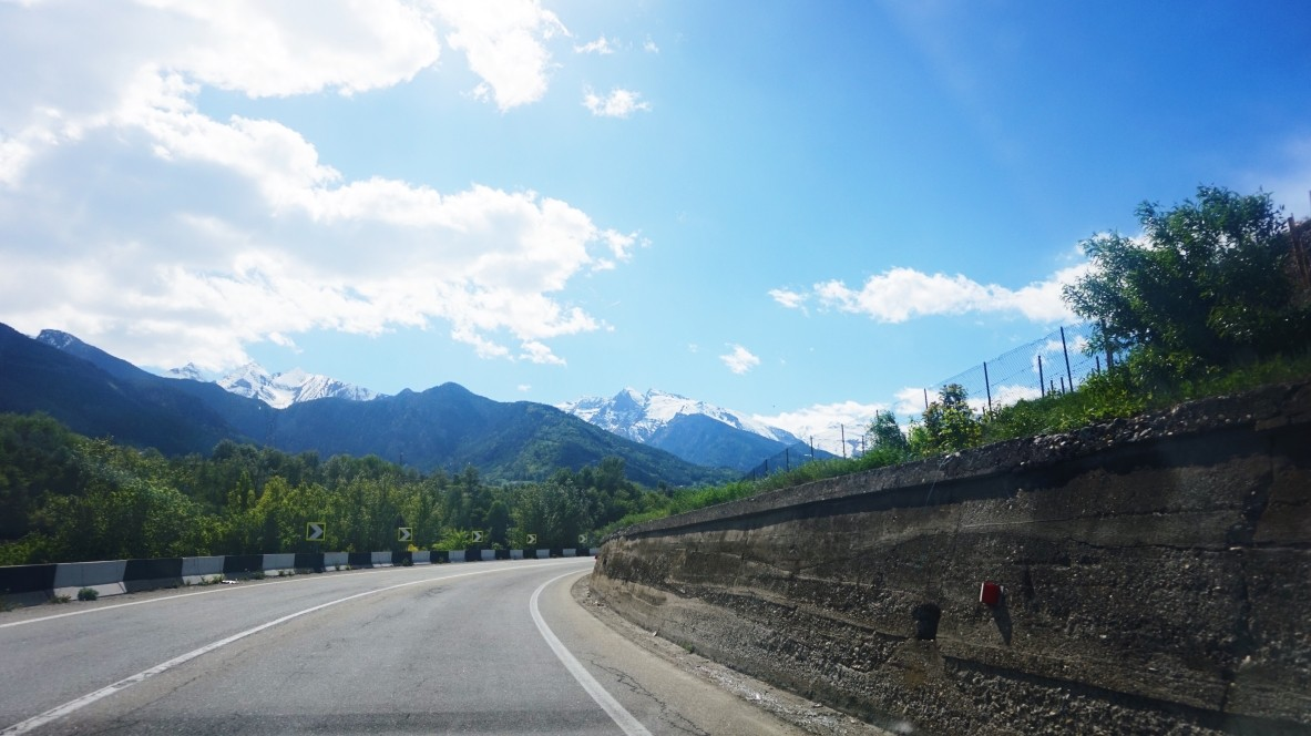 Motorway to Aosta