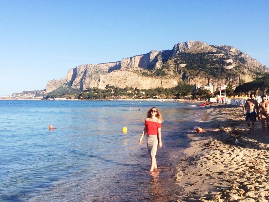 Plaża w Mondello na Sycylii