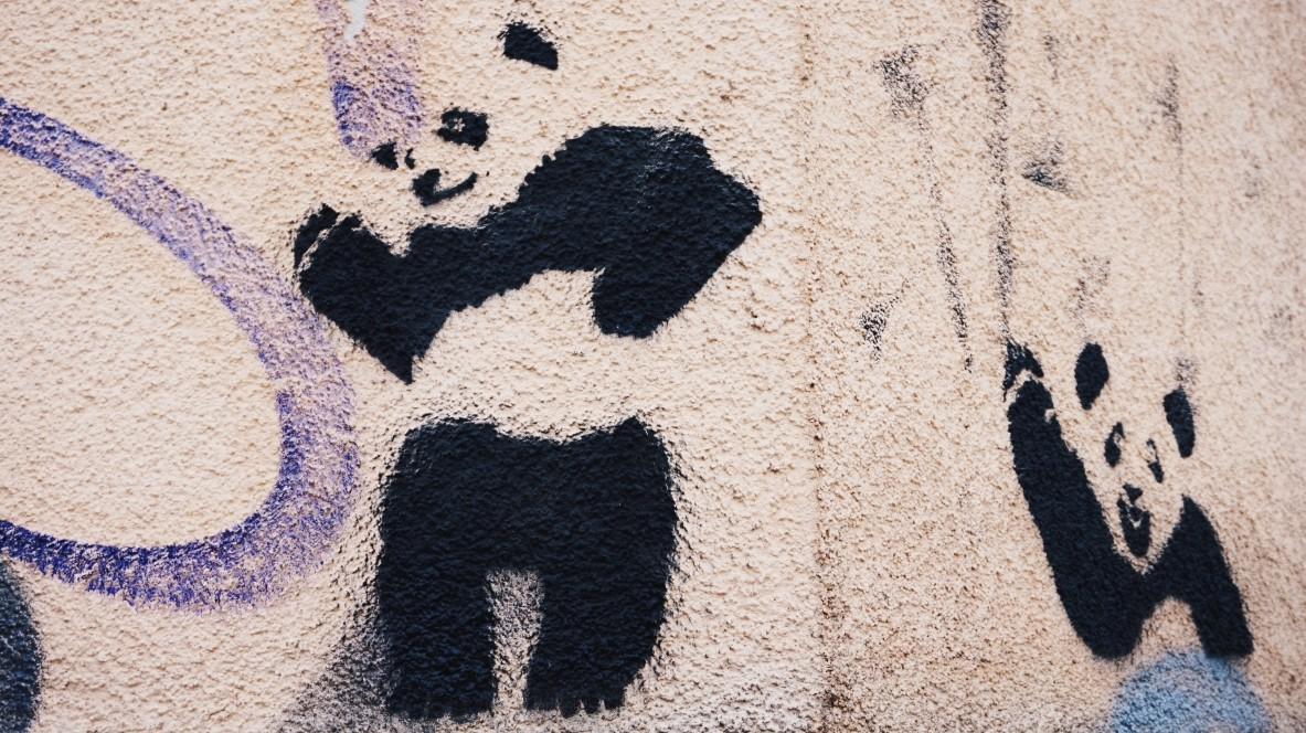 Street-art w Pradze - dzielnica Žižkov
