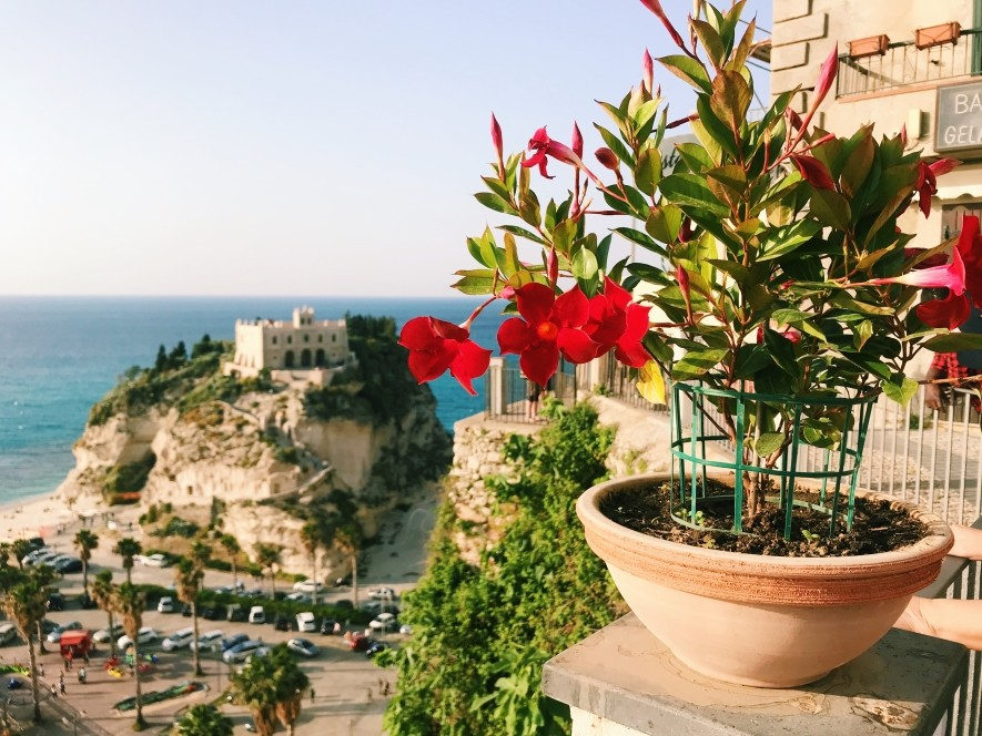 The view of beautiful Tropea in Calabria
