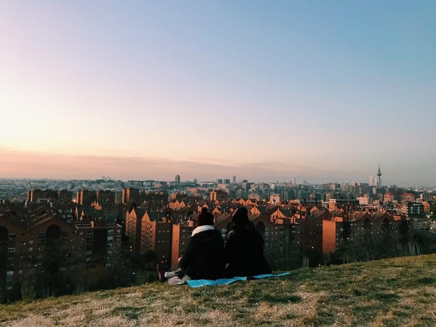 Zachód słońca w Madrycie