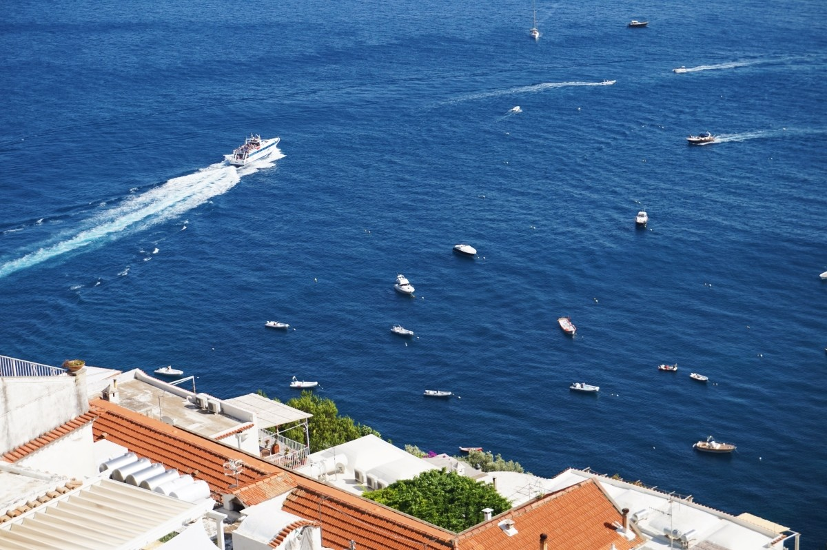 Positano i widok na Zatokę Neapolitańską