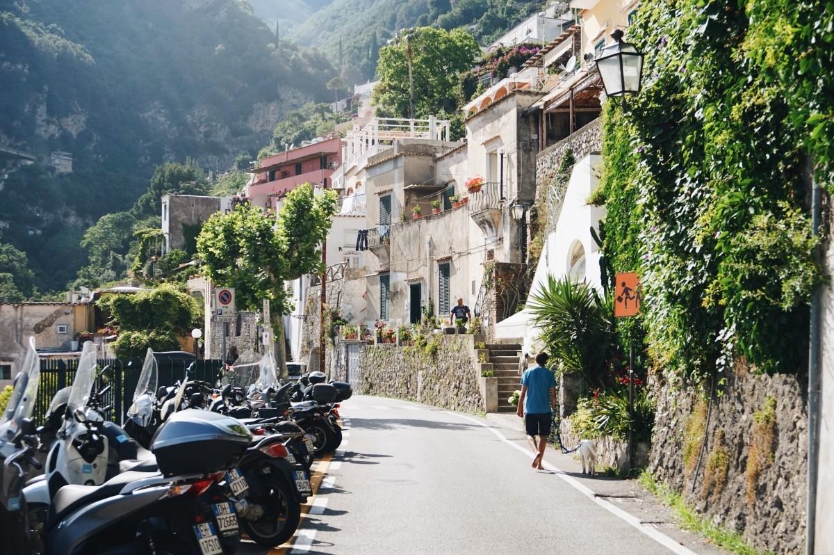 Magiczne uliczki w Positano