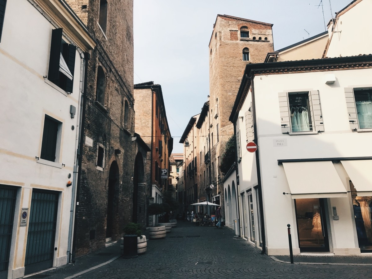 Typical Italian street in Treviso