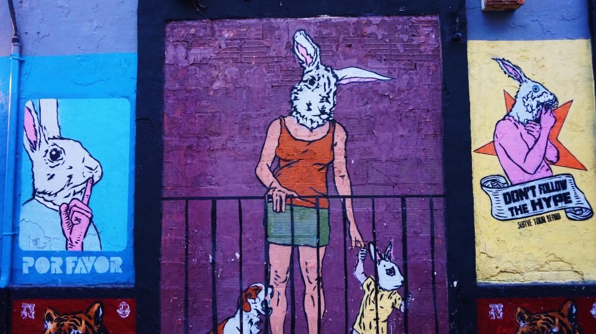 Street-art w Walencji - dzielnica Ruzafa