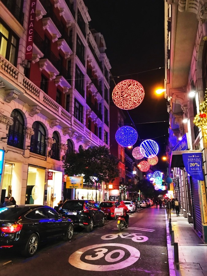 Madryt w grudniu