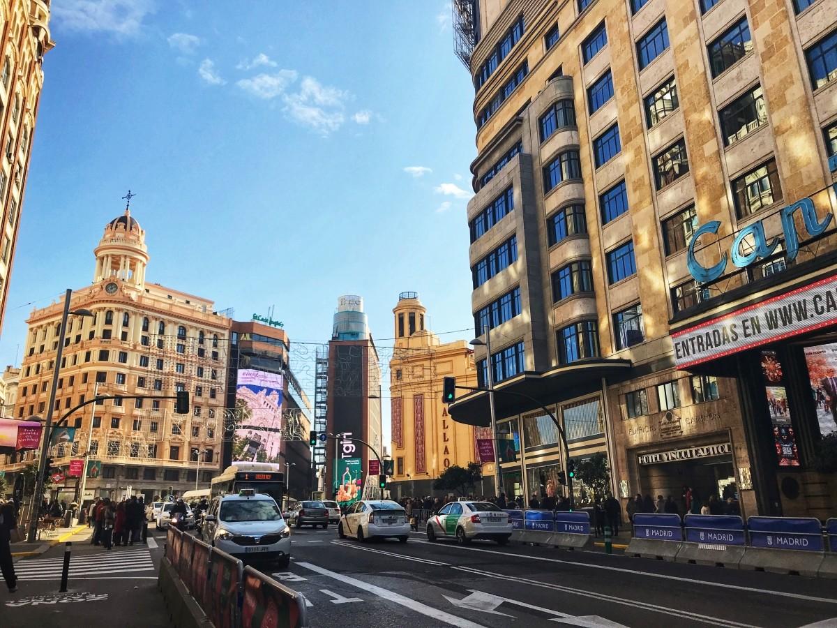 Gran Via w Madrycie