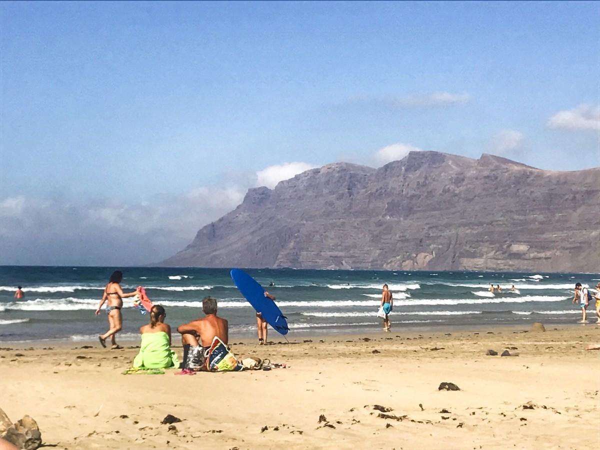 plaża Famara na Lanzarote