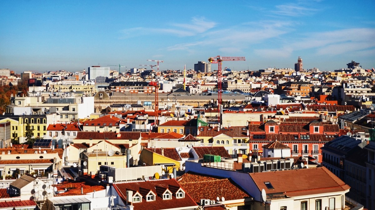 Widok na Madryt z Palacio de Comunicaciones